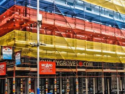 Cowley Groves - scaffolding